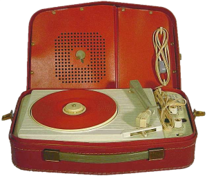 Fifties portable recordplayer